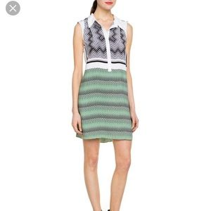 Walter Baker Ginett mod geo shift dress w collar